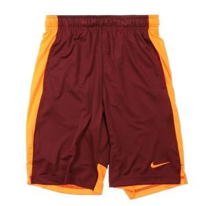 Nike Dry Fly Athletic Basketball Shorts Team Red